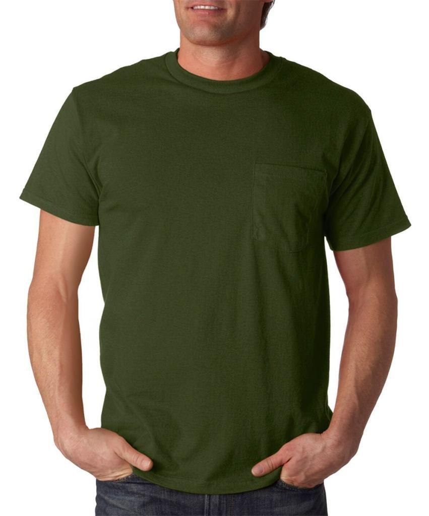 (フルーツオブザルーム) Fruit Of The Loom メンズ ヘビーウェイト ポケットつき 半袖Tシャツ トップス ショートスリーブTシャツ 男性用 B00XVE1QX2 S|ミリタリーグリーン ミリタリーグリーン S