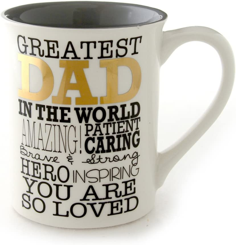 Multicolor 4.5 Enesco Our Name is Mud by Lorrie Veasey Greatest Dad Mug