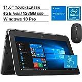 2020 Newest HP ProBook X360 G3 11.6 Inch Touchscreen 2-in-1 Laptop| Intel Celeron N4100 up to 2.4GHz| 4GB DDR4 RAM| 128GB SSD|HDMI| Webcam| Windows 10 Pro + NexiGo Wireless Mouse Bundle
