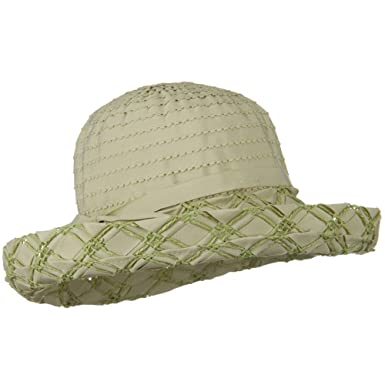 ce2115c2b25 Ribbon Toyo Kettle Brim Hat - Sage at Amazon Women s Clothing store ...