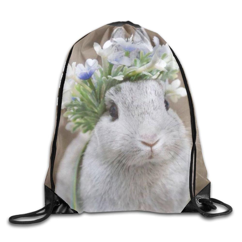 VIMUCIS Rabbit Drawstring Backpack Rucksack Shoulder Bags Training Gym Sack For Man And Women
