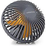 HAGOOGI 扇風機 USB扇風機 静音 卓上 持ち運び便利な手持ち扇風機 省エネ-ミニ扇風機 風量2段階調節可能 3角度調整 5枚羽根付き 小型扇風機