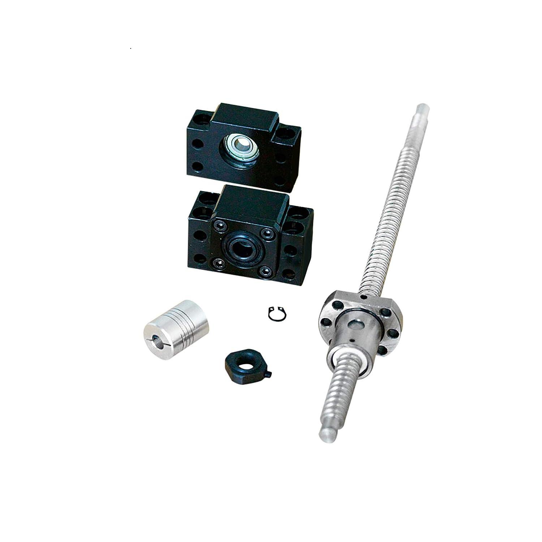 SFU1605 Rolled Ball Screw End Machined /& Ballnut Housing /& BKBF12 RM1605 CNC Set