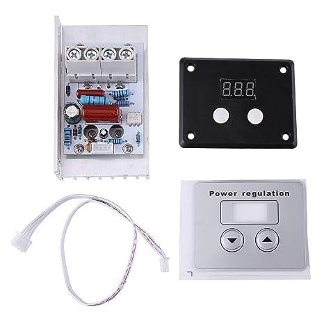 10000w Scr Digitaler Spannungsregler Drehzahlregelung Dimmer Thermostat Ac 220v 80a Gewerbe Industrie Wissenschaft