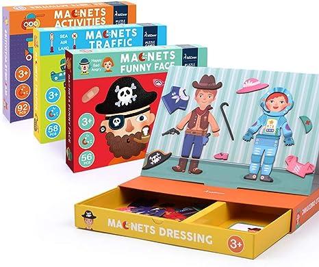 Juguetes educativos Mideer Puzzle magnético, cambio de ropa Juego de vestir magnético Juego educativo de juguetes Juegos de juguetes de aprendizaje para niños de Niños pequeños,30.2*21.5*4.4cm: Amazon.es: Deportes y aire libre