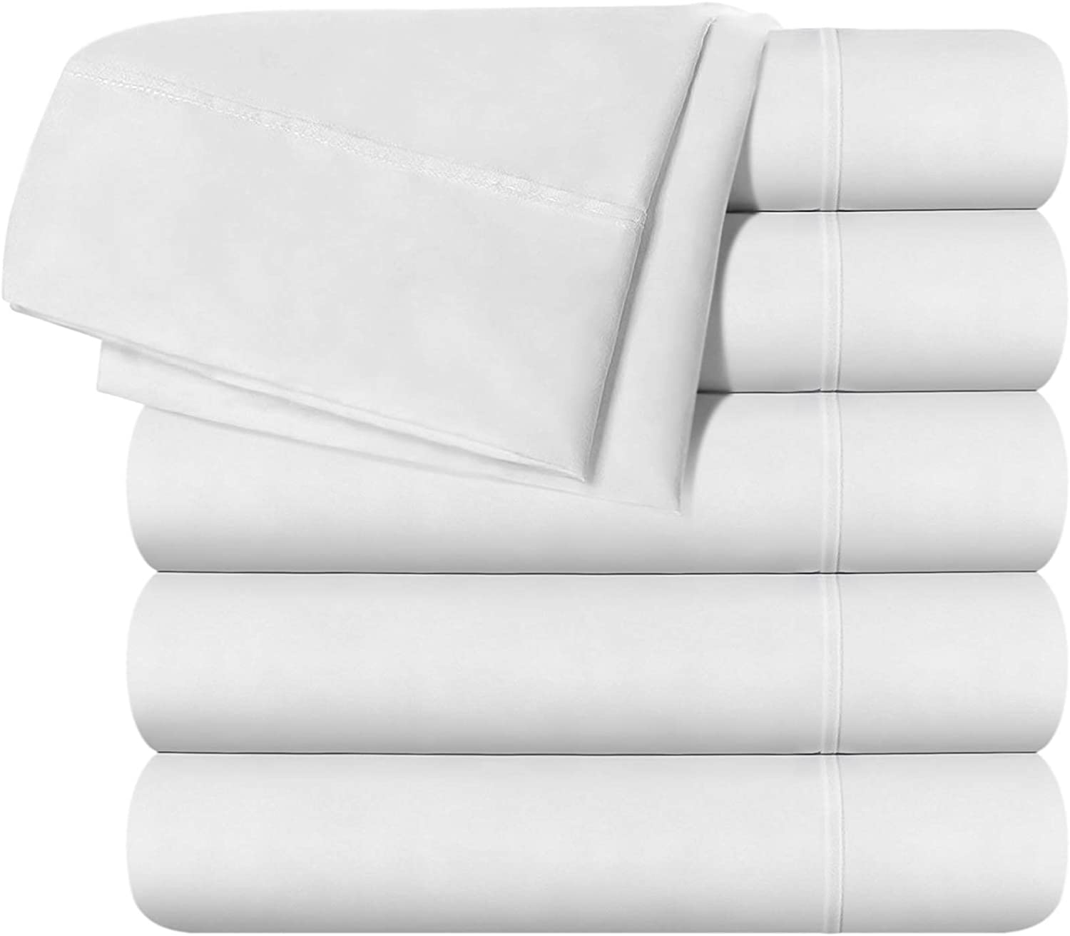 Utopia Bedding Full Flat Sheet - White (6 Pack)