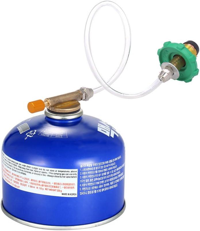 Lixada Camping Estufa Propano Rellenar Adaptador De Tanque De Cilindro Plano Acoplador Botella Adaptador