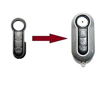 Klappschlüssel 3 Tasten für Fiat Autoschlüssel Ersatz 500 Panda Punto