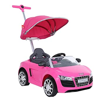 Audi Push Buggy With Canopy In Pink Amazon Co Uk Toys Games