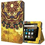 Ztotop Folio Case for Amazon Fire HD 8 Tablet (2017 and 2016 Release, 7th / 6th Generation) - Smart Cover Slim Folding Stand Case with Auto Wake/Sleep for Fire HD 8 Tablet, Tribal Style