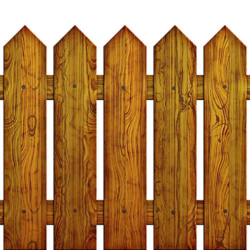 Wallmonkeys Picket Fence Peel and Stick Wall Decals WM151599 (18 in H x 18 in W)