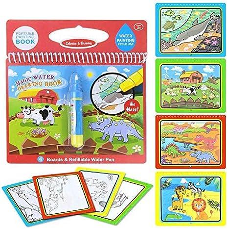Dinosaur Reuvv Eau Colorer Livre Peinture Pr/éscolaire /Éducatif Jouets R/éutilisable Magique Gribouillage Dessin Board pour Enfants Jouet