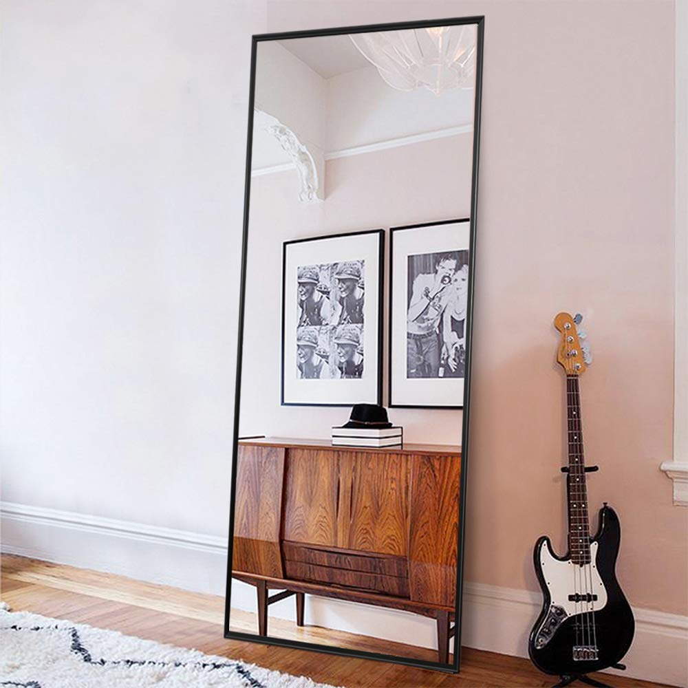 """ONXO Full Length Mirror Large Floor Mirror Standing or Wall-Mounted Mirror  Dressing Mirror Frame Mirror for Living Room/Bedroom/Cloakroom (65""""X22"""", ..."""