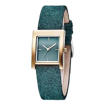 SW Watches Relojes De Las Mujeres,Diseño Rectangular Simple del Dial, Pulsera De Muñeca