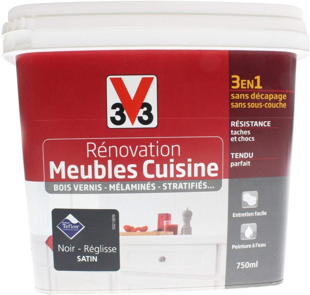 peinture rénovation cuisine réglisse satiné 14.14l - V14: Amazon