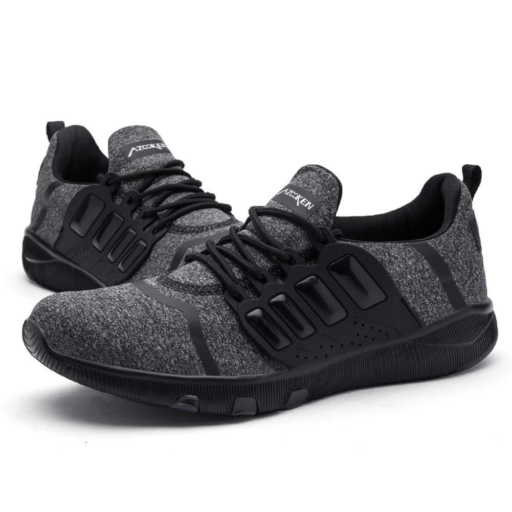 AZOOKEN Zapatillas Running para Hombre Mujer Aire Libre Deporte Transpirables Casual Gimnasio Correr Ligero Sneakers (6918-BK39)