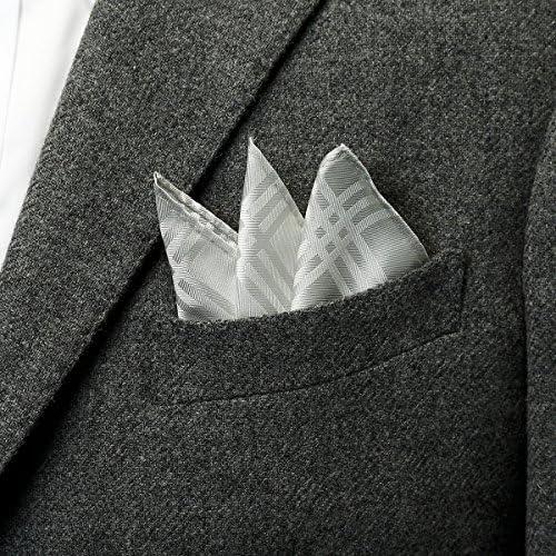 3本ラインポケットチーフ フォーマル日本製 グレー