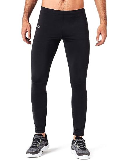 de3e0cfd8806 NAVISKIN Men  Fleece Lined Running Tights Outdoor Pants Zip Pocket Black  Size S