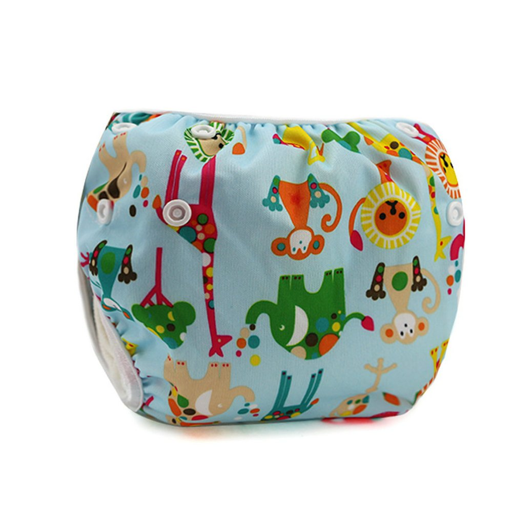 Multiple Patterns 0-18 Month Zcoins Newborn Baby Toddler Adjustable Swimming Diaper Reusable Washable Leakproof Swim Nappy
