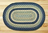 Earth Rugs 07-362 Oval Rug, 5 x 8′, Breezy Blue/Taupe/Ivory For Sale