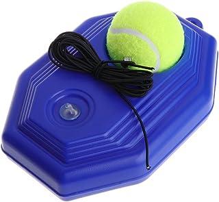 Wanfor Outil de formation de tennis-Tennis Ball Trainer Tool- Sparring Octagon Plinthe avec corde élastique pour Tennis Raquette Pratique pour Tennis amateur