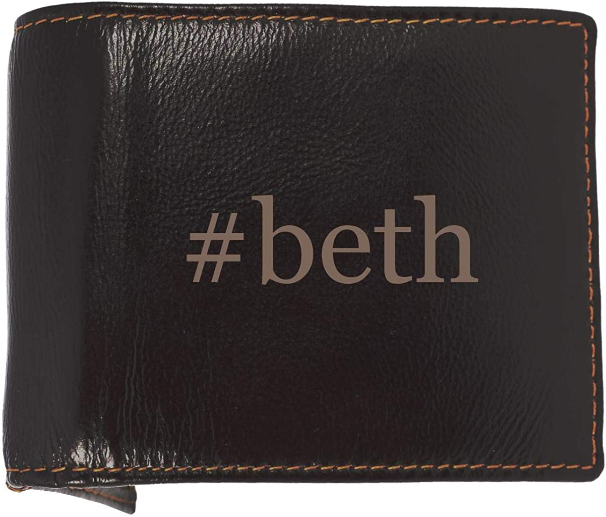 #beth - Soft Hashtag Cowhide Genuine Engraved Bifold Leather Wallet 61eqaTiv1ZL
