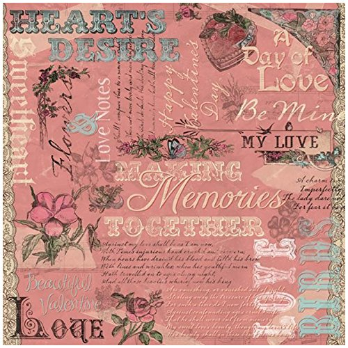 Karen Foster Design Scrapbooking Paper, 25 Sheets, Hearts Desire Collage, 12 x - Paper Design Foster Karen Collage