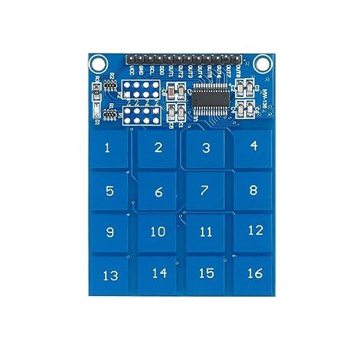 KKmoon TTP229 - Módulo de conmutación táctil capacitivo, 16 ...