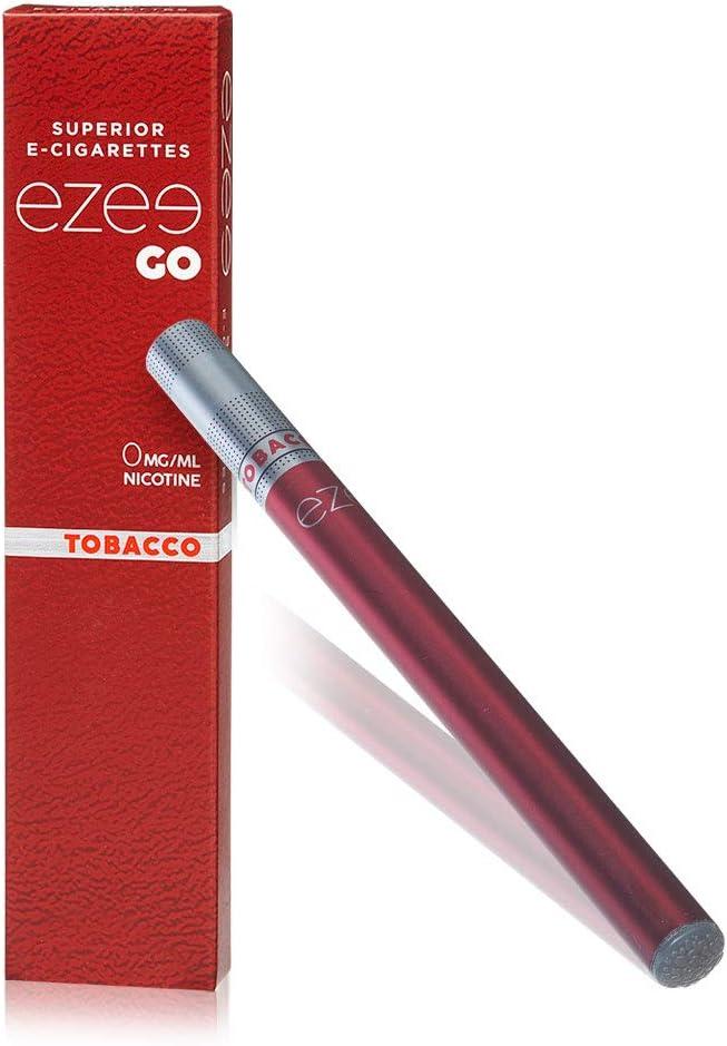Ezee Go Cigarrillo Electrónico Desechable sabor a Tabaco E-Cigarrillo Boquilla Suave 285 mAh Batería Sin Nicotina y sin Tabaco Paquete de 1