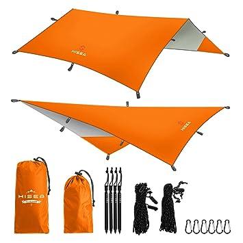 hisea hammock rain fly tent tarp shelter 3m x 3m  u2013 waterproof lightweight rainfly sun shelters amazon     hisea hammock rain fly tent tarp shelter 3m x 3m      rh   amazon