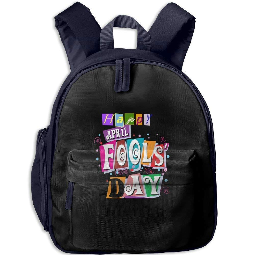 Funny Schoolbag Backpack Happy April Fools Day Toddler Kids Pre School Bag Cute 3D Print Children School Backpack