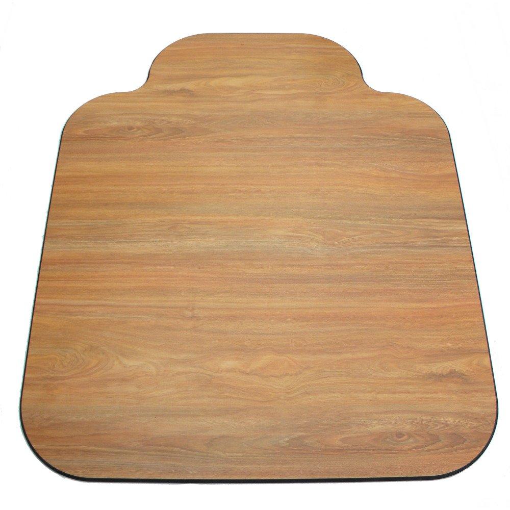 Laminate Chair Mat-Oak-46x55 with Single Lip by Spectrum