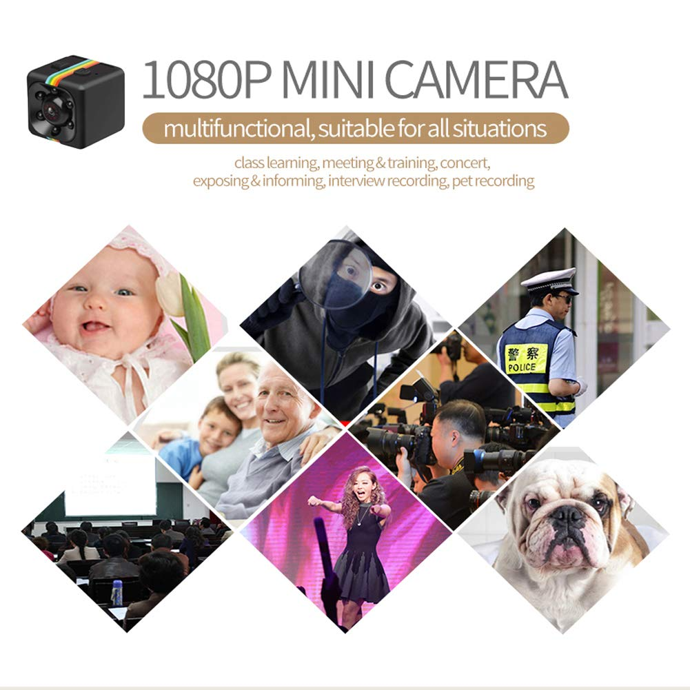 Video Record and Motion Activated Spy Cameras Hidden Mini Spy Camera Wireless Portable HD 1080P Nanny Cam with Night Vision MOMUD Security Hidden Spy Camera Perfect for Home//Office//Outdoor Use
