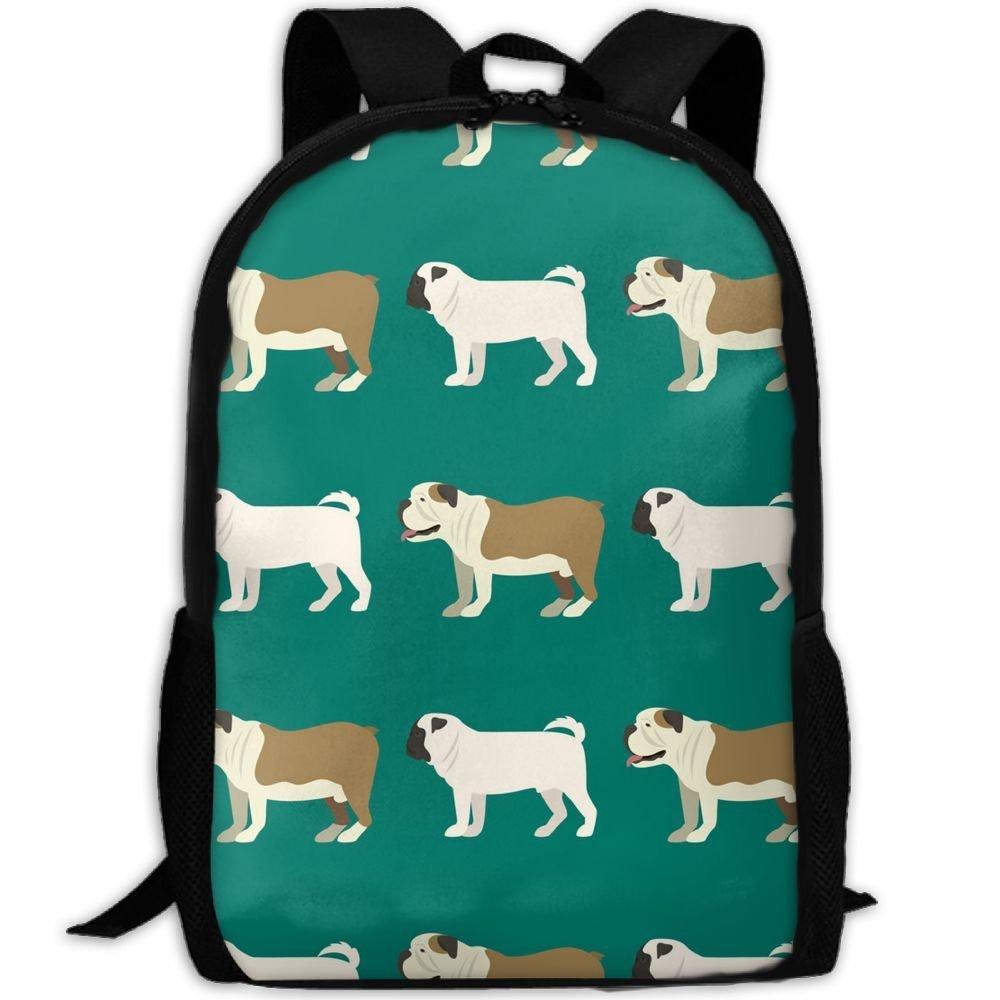 klnsha7面白い漫画ブルドッグ犬(1 ) スクールBookbagsティーン、バックパックカレッジバッグYoung People Daypack   B07G2C7CGB
