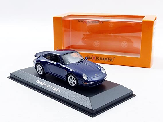 Amazon.com: Maxichamps 1/43 Scale 940 069201 - 1993 Porsche 911 Turbo 993 - Metallic Blue: Toys & Games