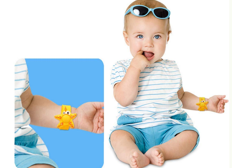 Pulseras no t/óxicas WENTS Pulseras repelentes de Mosquitos Pulsera de Silicona Colorida Impermeable para beb/és y ni/ños Bandas repelentes de Insectos de Dibujos Animados