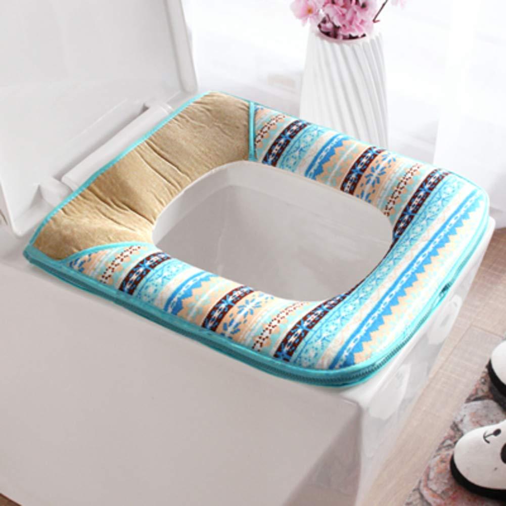 DADAO WC Sitz Deckel mit reißverschluss,High qualität plüsch dick reißverschluss Platz WC-Sitz-AK