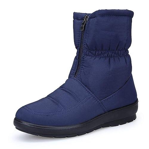 Femme Fermeture Chaude Filles Bottines Neige Bottes Confortable Chaussures Dadaze Outdoor De Plates Intérieur Snow Éclair Hiver Boots Fourrée fgYv7I6ybm