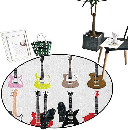 Alfombra para decoración del hogar de guitarra, dibujo artístico ...