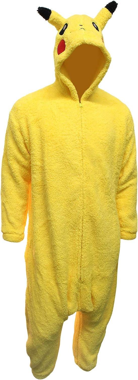 Amazon.com: Disfraz de Pikachu Onesie para adulto, talla ...