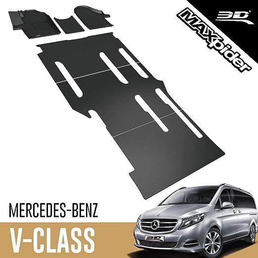 3d Maxpider Allwetter Fussmatten Für Mercedes Benz V Klasse 2018 2020 8 Sitzer Passgenaue Fußmatten Auto Mit Einer Schiebetür Auf Der Rechten Seite Auto