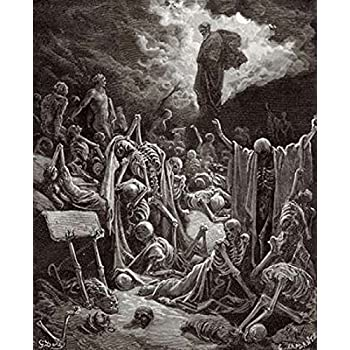 The Visions of Ezekiel The Vision of the Valley of the Dry Bones Poster Print by Gustave Dore (8 x 10)