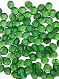 Dashington® Flat Green Marbles, Pebbles (2.5 Pound Bag) for Vase Filler, Table Scatter, Aquarium Decor, Approximately 250-300 Marbles