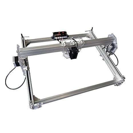 5500 MW Aluminio aleación Desktop DIY CNC Laser gravierer Engraver ...