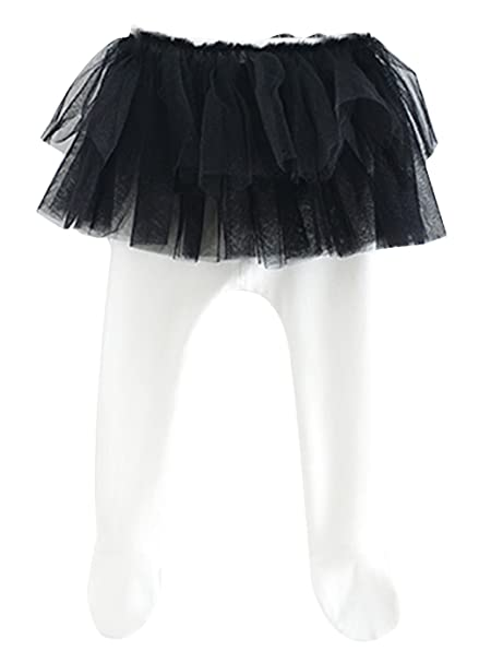 a37301b2aa9db Jimall Spring Infant Baby Girls Footed Leggings Tights With Tutu Skirt Black  80CM: Amazon.co.uk: Clothing