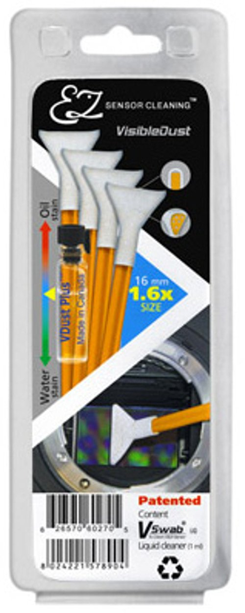Visible Dust 1.6X Sensor Cleaning Kit (Vdust Solution and 4 Orange Swabs)