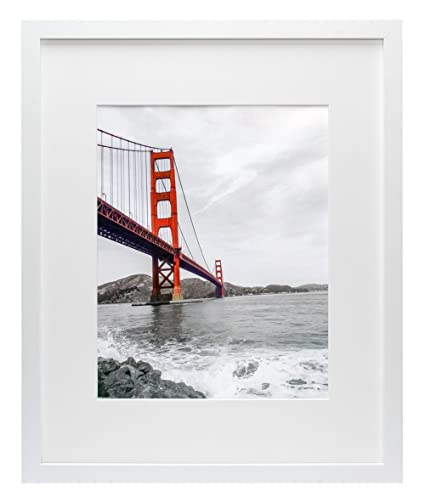 Amazon.com - Frametory, 16x20 White Picture Frame - Made to Display ...