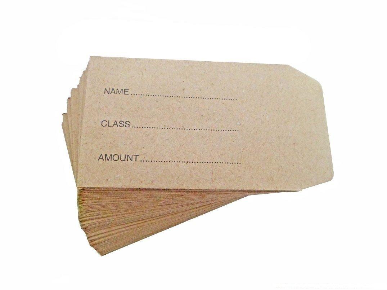 Dinner Money Envelopes Pack 200 Chiltern Wove