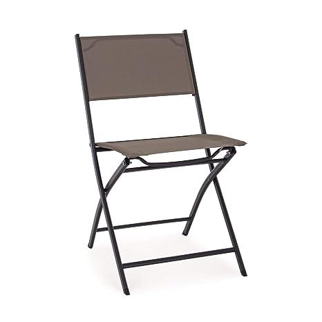 ARREDinITALY - Juego de 4 sillas Plegables para Exteriores ...