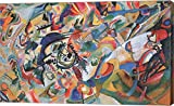 Composition VII 1913 by Wassily Kandinsky Canvas Art Wall Picture, Gallery Wrapped with Image Around Edge and sold by Great Art Now, size 21x13 inches. This canvas artwork is popular in our Abstract Art, Modern Art, Art by Venue, and Hotel Art catego...